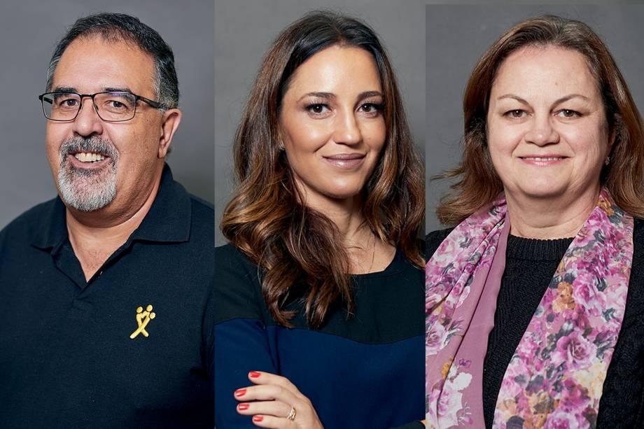 José Aurelio Ramalho, Tatiane Moreira Lima e Roni Enara: indicados ao Prêmio VEJA-se na categoria 'Políticas Públicas'