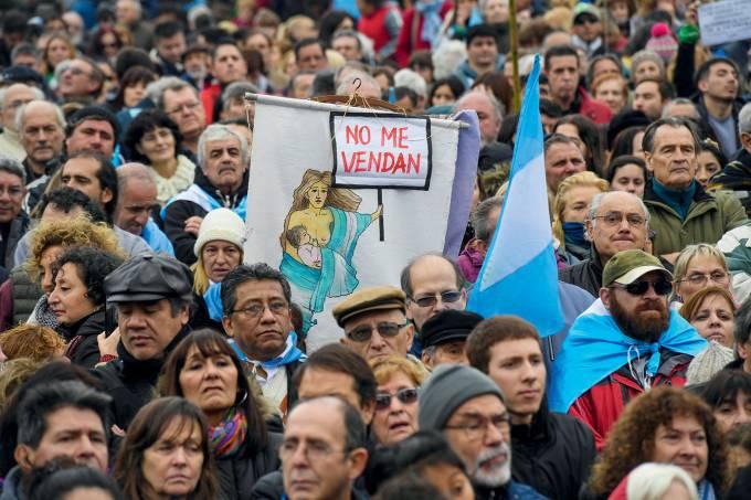 Protestos contra o governo argentino
