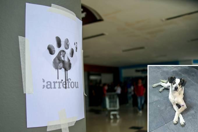 Manifestação no Carrefour
