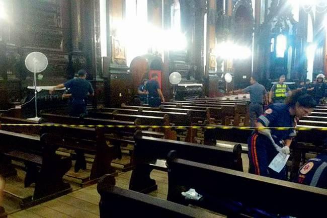 PÂNICO - Com posto policial em frente à igreja, PMs agiram rápido para conter Euler