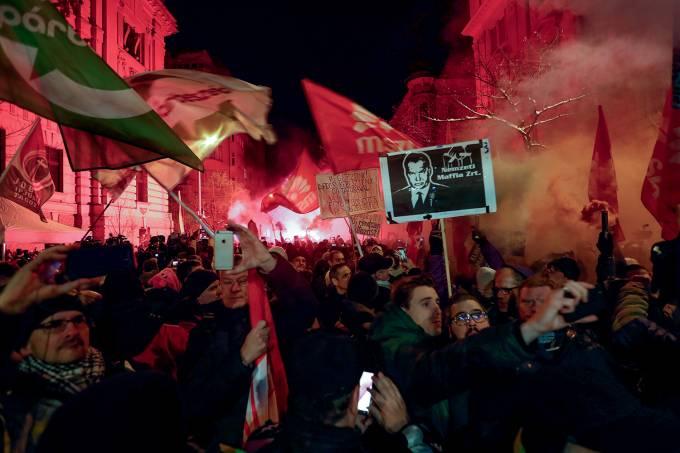 Protestos na Hungria