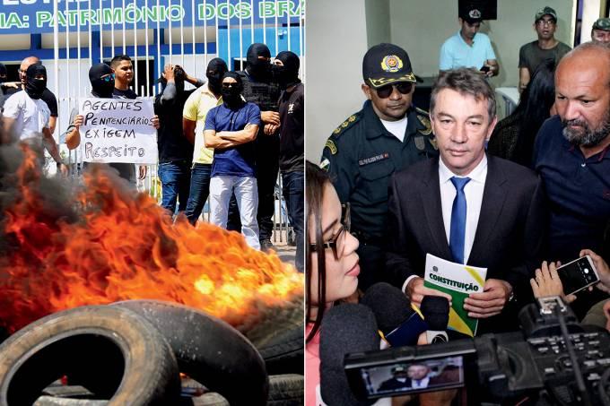 Greve de agentes penitenciários e Antonio Denarium