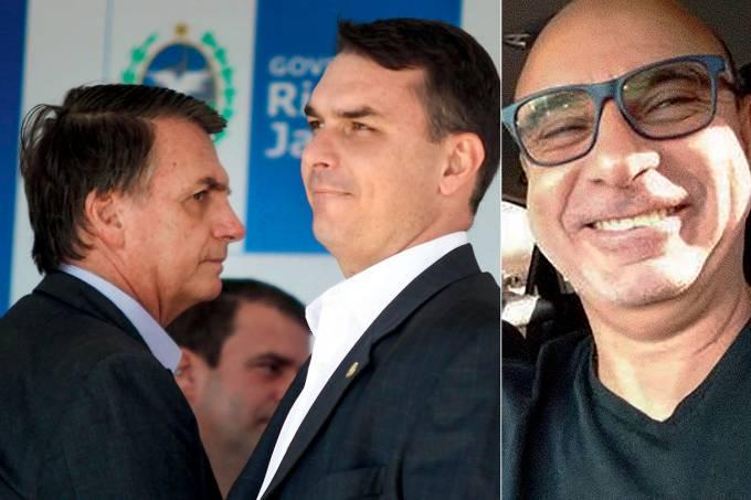 Jair Bolsonaro, Flávio Bolsonaro e Fabricio Queiroz