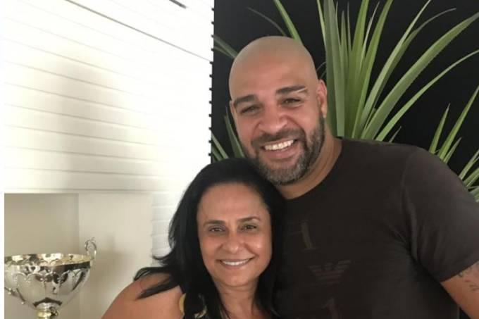 Adriano com a produtora dos filmes, Vania Catani