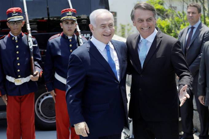 Benjamin Netanyahu e Jair Bolsonaro