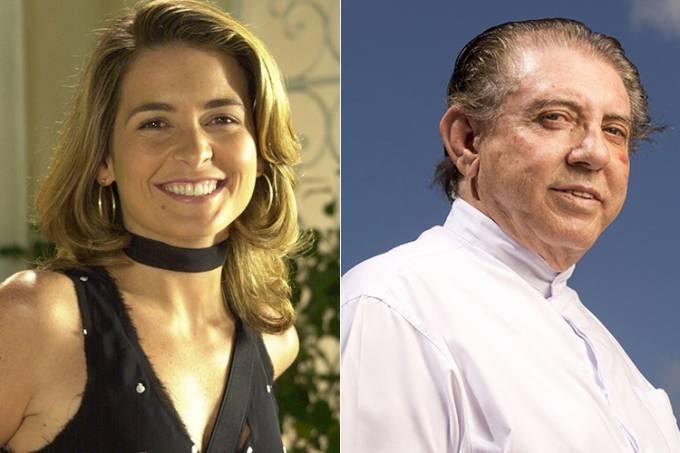 A atriz Cláudia Abreu e o médium João de Deus