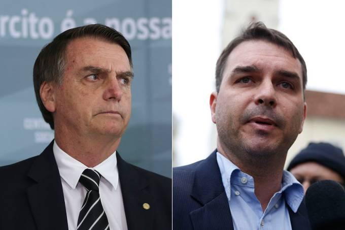 Jair Bolsonaro e Flávio Bolsonaro