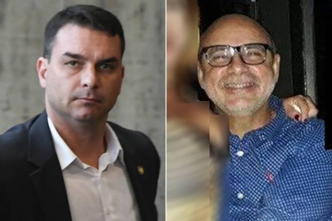 Flávio Bolsonaro e o PM Fabrício Queiroz