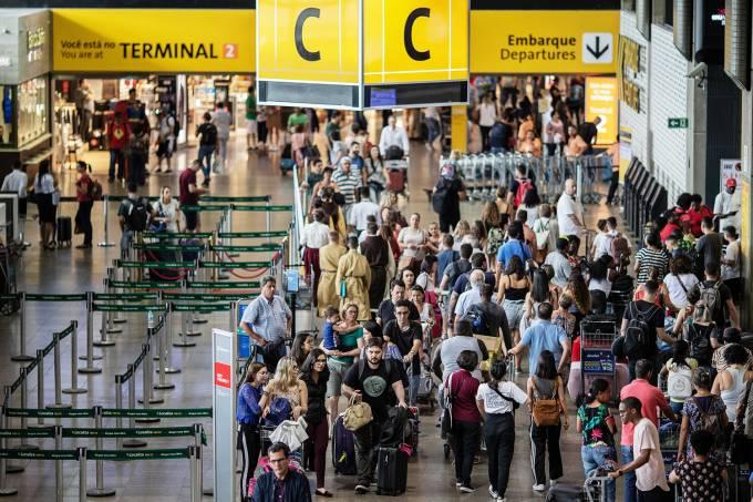 Movimentação no Aeroporto Internacional de Guarulhos