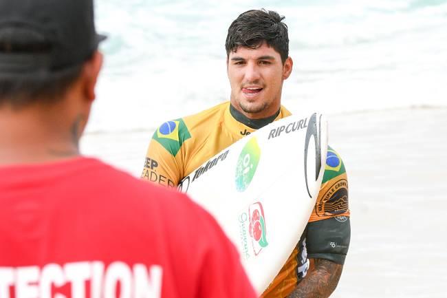 O surfista brasileiro durante o Mundial de Surfe realizado em Pupukea, no condado de Honolulu, Havaí - 16/12/2018