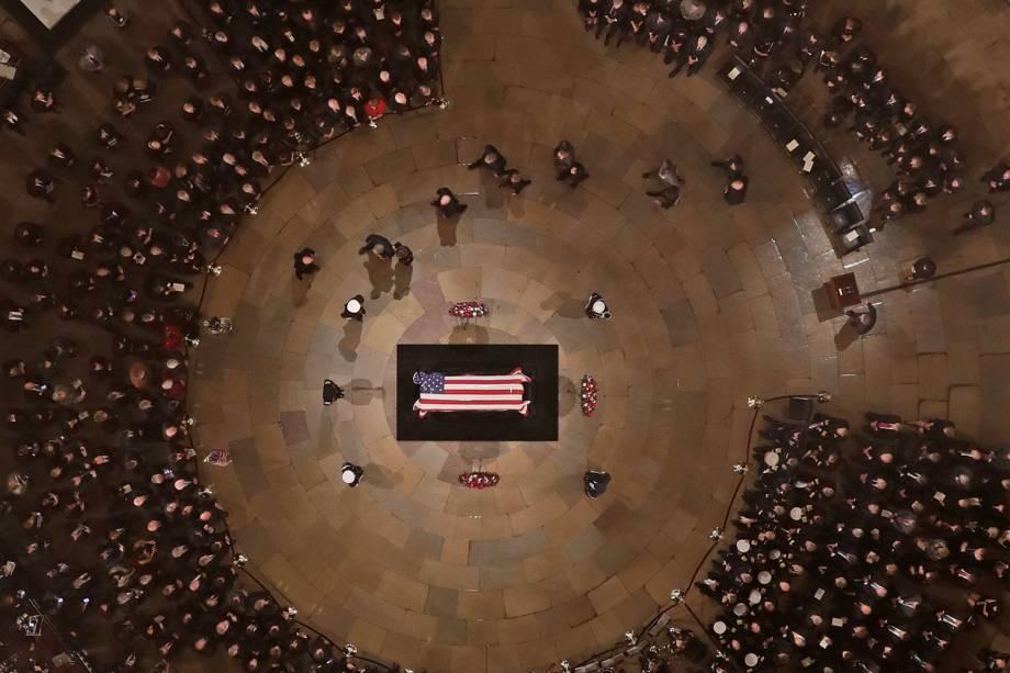 Funeral do ex-presidente americano George H. W. Bush, realizado na rotunda do Capitólio dos Estados Unidos, em Washington - 03/12/2018