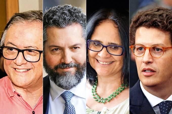 Rodríguez, Araújo, Damares e Salles