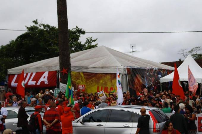 Vigília Lula Livre em Curitiba
