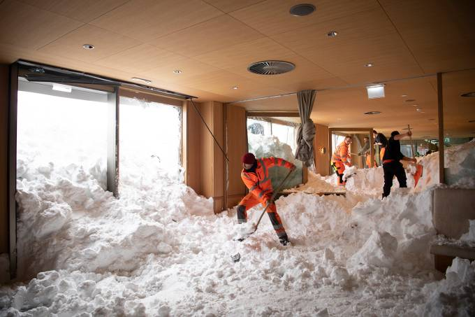 Onda de frio na Europa provoca nevasca em diversos países