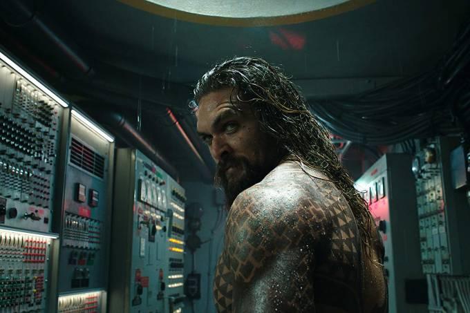 Jason Momoa em cena de 'Aquaman' (2018)