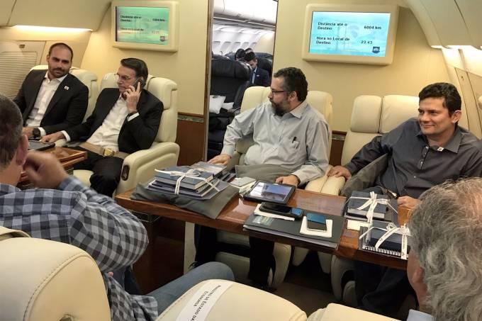 Jair Bolsonaro durante viagem a Davos