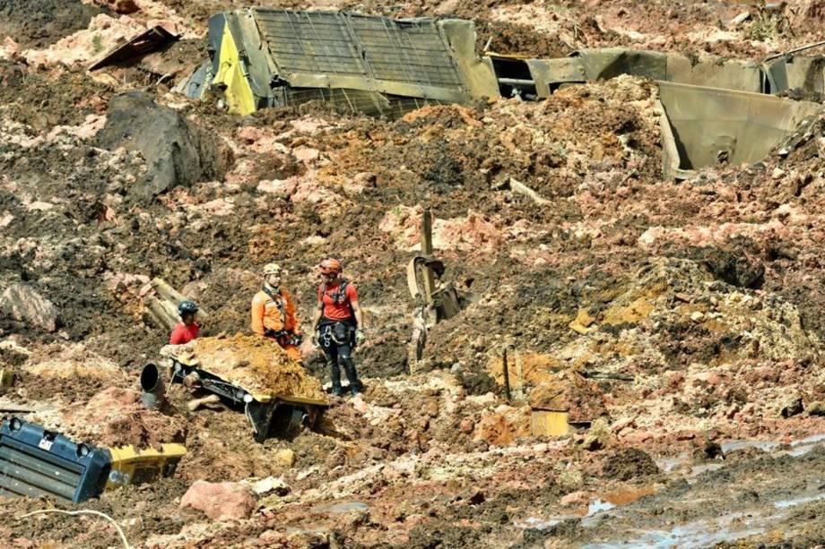 Barragem da mineradora Vale rompe em Brumadinho, cidade da Grande Belo Horizonte, Minas Gerais - 25/01/2019
