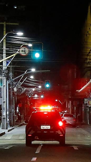 Viatura da Força Nacional de Segurança realiza patrulha em rua de Fortaleza (CE) - 06/01/2019