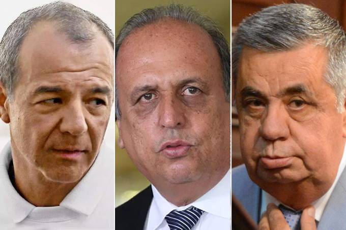 Sérgio Cabral, Luiz Fernando Pezão e Jorge Picciani