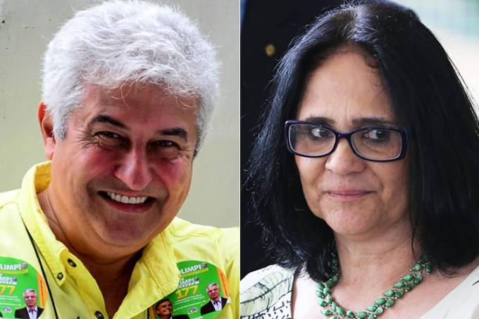 Marcos Pontes e Damares Alves
