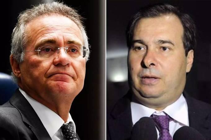 Renan Calheiros e Rodrigo Maia