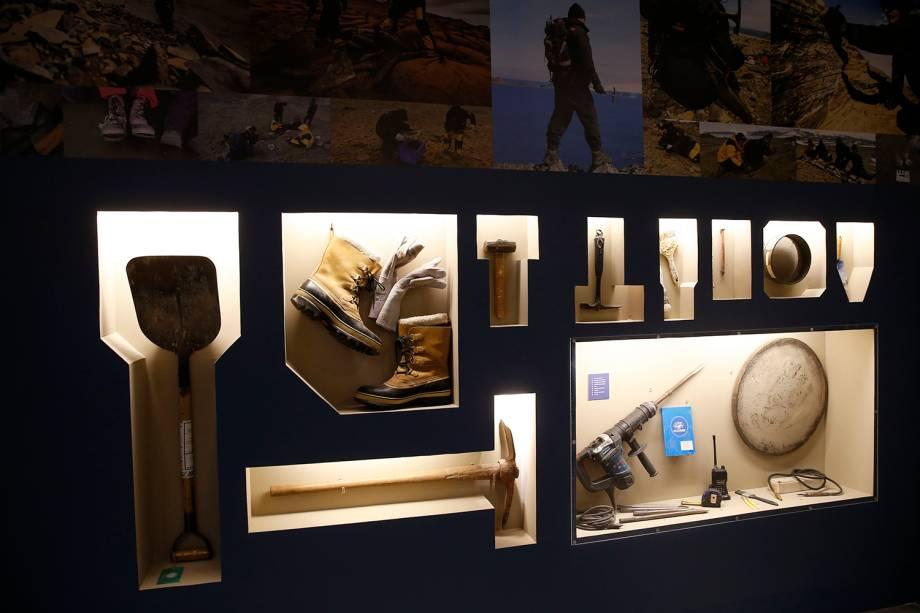 Equipamentos de pesquisas da Antártica na exposição 'Quando Nem Tudo era Gelo', organizada pelo Museu Nacional e exposta no Centro Cultural Casa da Moeda, no Rio - 16/01/2019