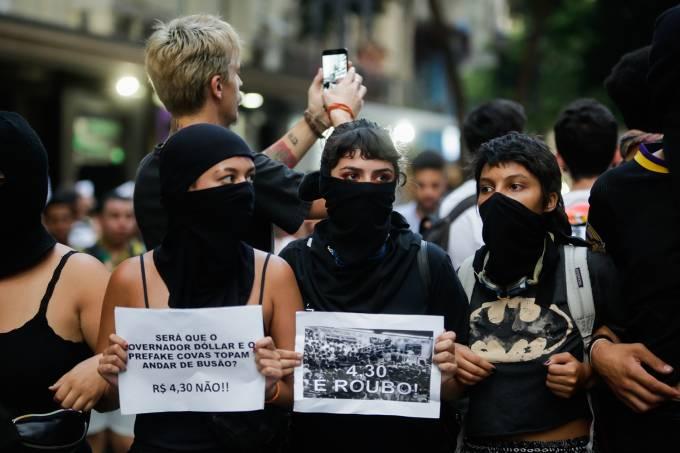 Protesto contra o aumento da tarifa em São Paulo