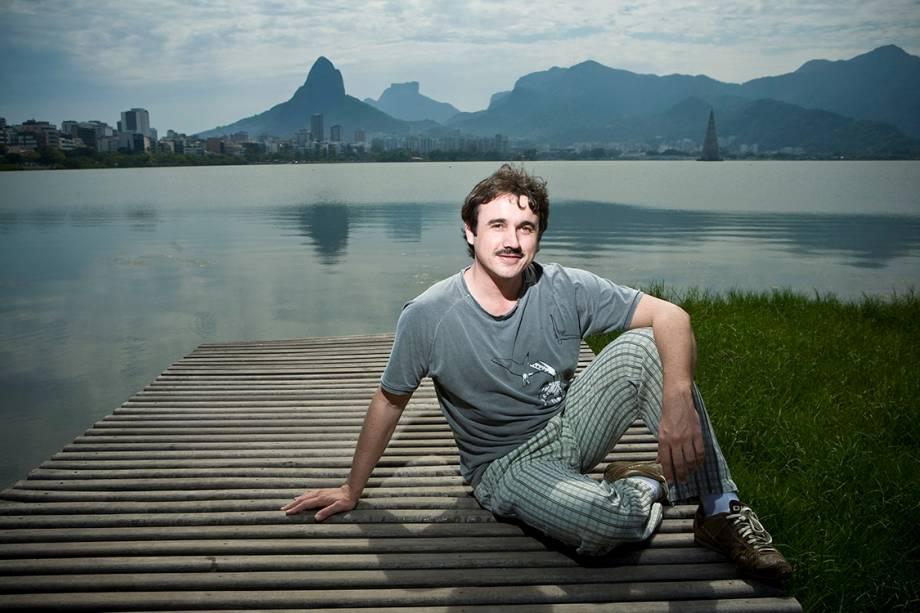 O ator Caio Junqueira na Lagoa Rodrigo de Freitas, Rio de Janeiro - 12/10/2008