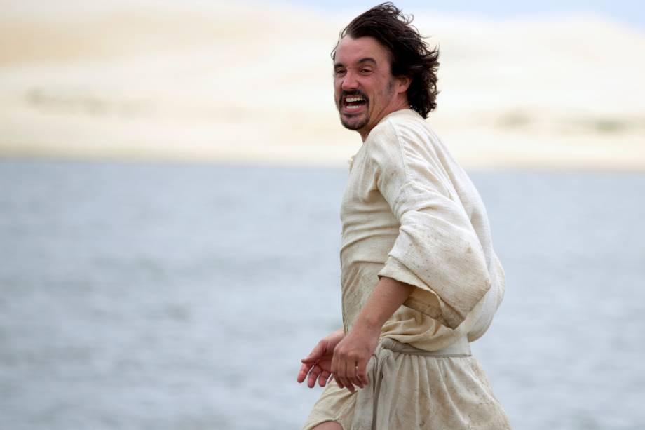 Caio Junqueira interpreta Pedro no episódio 'Pesca Maravilhosa' da série bíblica 'Milagres de Jesus' da Record