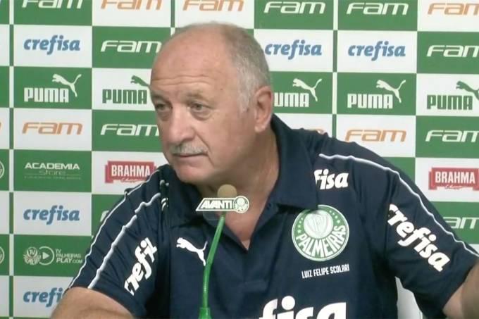 O técnico do Palmeiras, Felipão