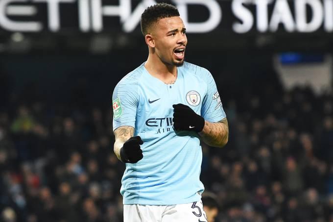Copa da Liga Inglesa – Manchester City x Burton Albion – Gabriel Jesus