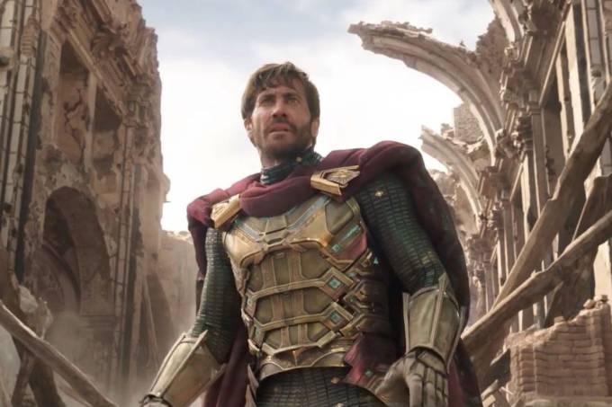 Jake Gyllenhaal como Mystério em 'Homem-Aranha: Longe de Casa'