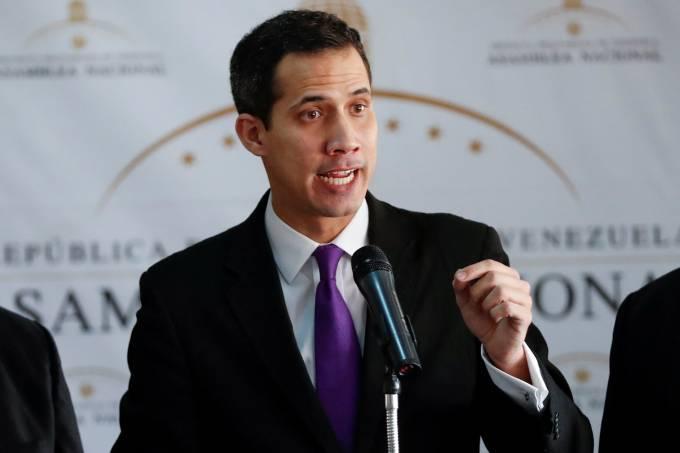 Juan Guaidó, presidente da Assembleia Nacional da Venezuela, em entrevista coletiva em Caracas, Venezuela – 11/1/2019