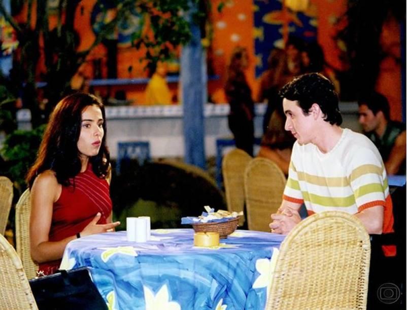 Caio Junqueira e Cassia Linhares em cena da novela Malhação em 1998