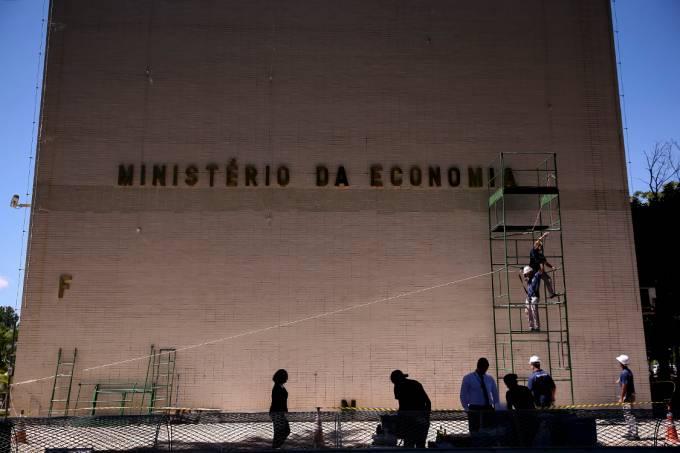 Novo letreiro para o Ministério da Economia