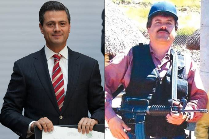 Enrique Peña Nieto, ex-Governador do Estado de México e El Chapo