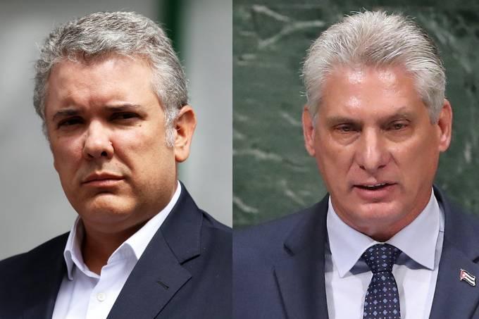 Iván Duque e Miguel Díaz-Canel