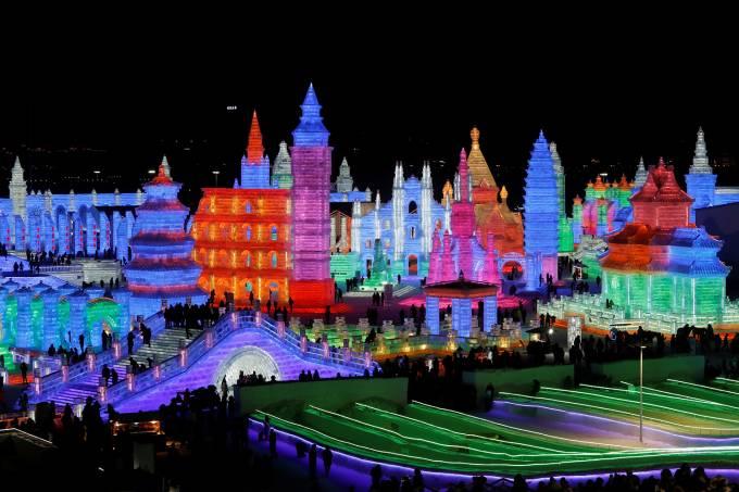 Festival Internacional de Esculturas de Gelo e Neve de Harbin