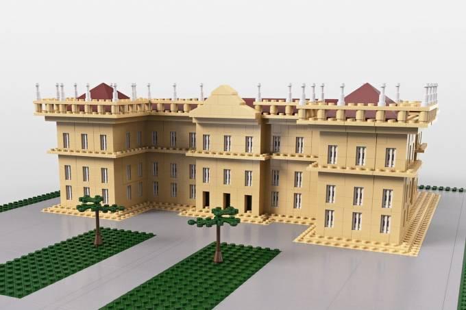 Projeto do Museu Nacional em LEGO criado por Caio Gandolfi e Diego Ferrite