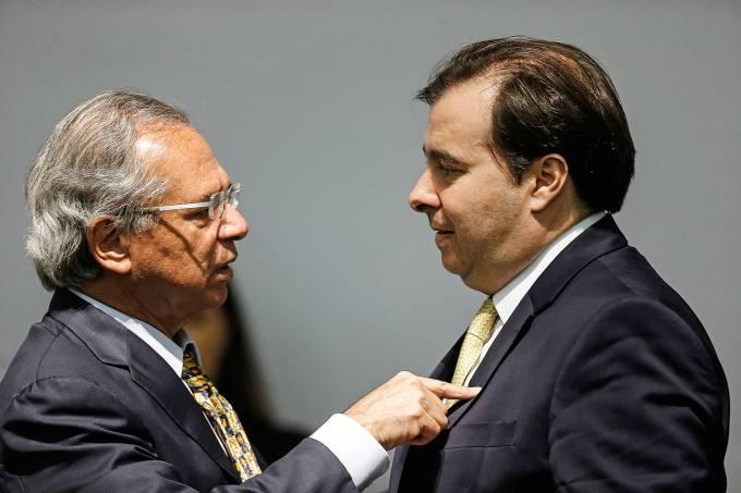 Eduardo Guardia e Paulo Guedes