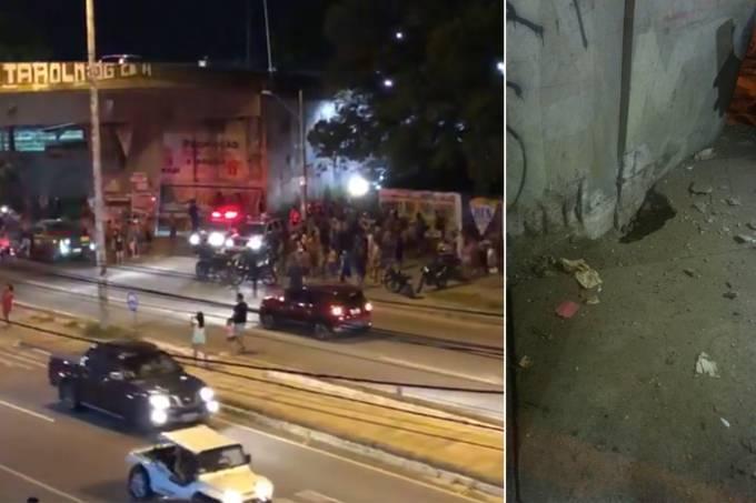 Viaduto da Ypióca foi alvo de uma explosão