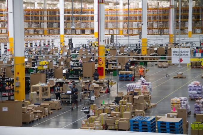 Centro de distribuição da Amazon em Cajamar (SP)