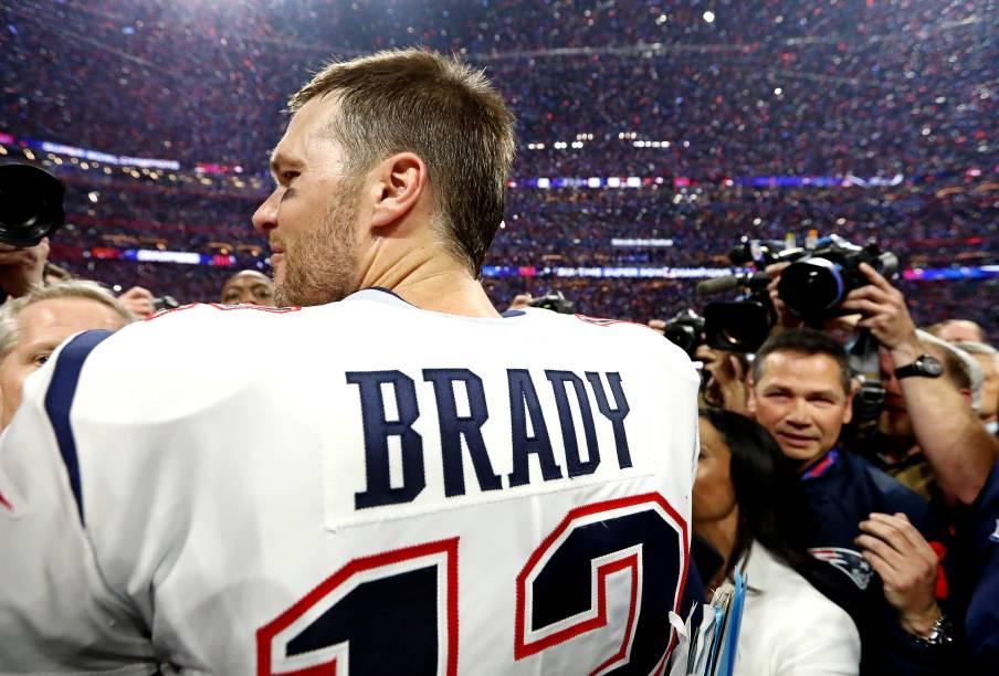Tom Brady,  agora também hexacampeão, é  o jogador com mais conquistas de todos os tempos