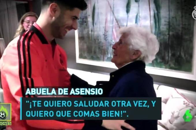 Avó pediu a Marco Asensio que se alimente bem