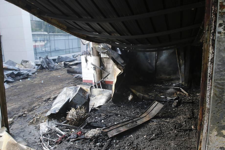 Incêndio atinge o CT Ninho do Urubu, alojamento do Flamengo localizado na Vargem Pequeno, zona oeste do Rio de Janeiro - 08/02/2019