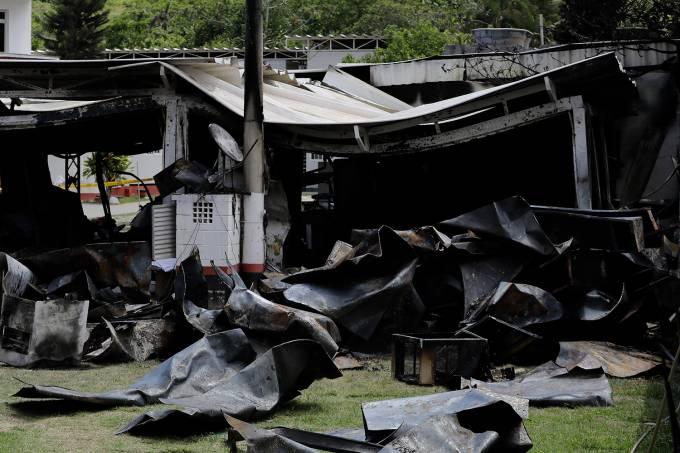 Centro de Treinamento do Flamengo pega fogo durante a madrugada