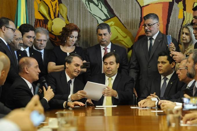 O presidente Jair Bolsonaro chega ao Congresso para apresentar a Reforma da Previdência