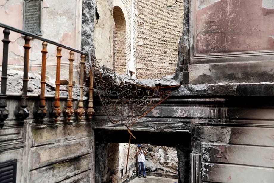 Museu Nacional é reaberto para a imprensa cinco meses após incêndio atingir o prédio - 12/02/2019