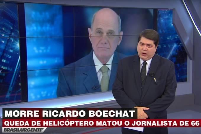 Datena entra ao vivo para dar a notícia da morte do jornalista Ricardo Boechat – 11/02/2019