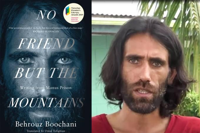 """O livro """"No Friend But the Mountains"""" do autor Behrouz Boochani"""